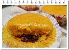 Trufa forneável. Para preparar cupcakes que já saem recheados do forno.