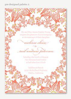 McKenna Wedding Invitation - Garden Wedding Invitation