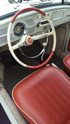 I wanna re-upholstere the seats of my white 67 VW T3 Fastback in red ❤️
