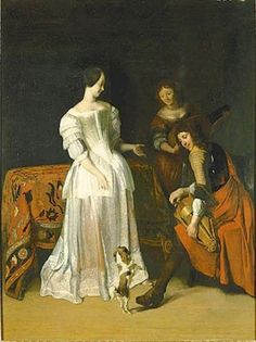 Company with Dancing Dog Cleveland Museum Of Art, Art Institute Of Chicago, 17th Century Clothing, Dutch Golden Age, Drawing Lessons, Dog Portraits, Dog Art, Beautiful Paintings, Fashion History