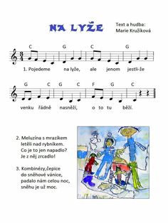 Songs For Toddlers, Kids Songs, Kindergarten, Winter Project, Winter Sports, Olympic Games, Excercise, Sheet Music, Mario