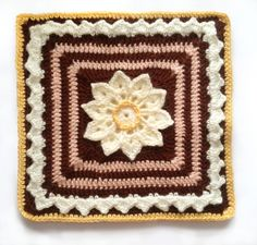 FREE Ravelry crochet pattern: Simple Afghan Square by Joyce Lewis Grannies Crochet, Crochet Squares Afghan, Crochet Bedspread, Crochet Blocks, Irish Crochet, Crochet Motif, Crochet Stitches, Crochet Patterns, Granny Squares