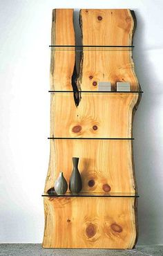 split log shelf