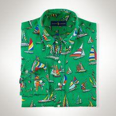 セールボートプリント リネン シャツ ・ メンズ 新着商品 ・ ハイライト ・ メンズファッション通販 | Polo Ralph Lauren - Ralph Lauren Japan (ラルフローレン)