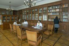 Sala de Lectura, detalle Experimental, Conference Room, Furniture, Home Decor, Special Library, Reading Room, Zaragoza, Filing Cabinets, Classroom