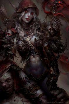 Sylvanas Windrunner -Enshanlee Daily World of Warcraft Art Board ^^ // Blizzard // wow // Hearthstone // Geek Dark Fantasy Art, Fantasy Women, Fantasy Girl, Fantasy Artwork, Final Fantasy, Fantasy Characters, Female Characters, Art Warcraft, World Of Warcraft Orc
