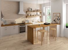 32 Amazing Modern Wood Kitchen Design Ideas - Unless you plan to spend the rest of your life in your current home if you are planning a kitchen makeover then best advice is not only to think about. Apartment Kitchen, Home Decor Kitchen, Kitchen Interior, Home Kitchens, Kitchen Ideas, Cottage Kitchens, Modern Kitchens, Grey Kitchens, Modern Kitchen Cabinets