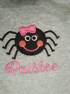 Girly spider applique
