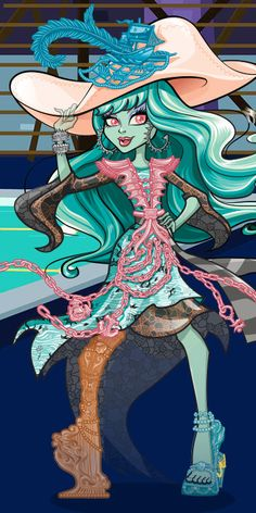 Vandala Doubloons is ready for adventures in uncharted areas of the deep boo sea and at Haunted High! Read Vandala's character bio to learn more about her and her new Monster High friends! Cartoon Monsters, Cool Monsters, Famous Monsters, Cartoon Characters, Arte Monster High, Monster High Dolls, Personajes Monster High, Monster High Pictures, Ever After Dolls