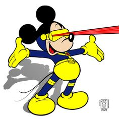 Mickey Mouse as Cyclops by UberPickleMonkey