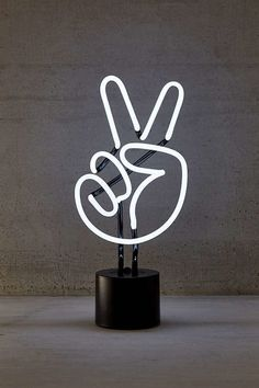 Neon Peace Sign Table Lamp added onto home, lights, font, product-design, Neon Light Signs, Neon Signs, Home Design, Neon Lamp, Marquee Lights, Marquee Letters, Its A Mans World, Bedside Table Lamps, Luz Led