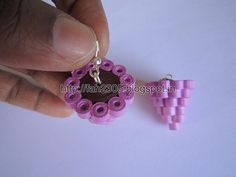 Handmade Jewelry - Paper Quilling Chandelier  Earrings   (3)