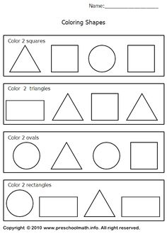 Image detail for -Shapes Worksheets For For Preschool, Kindergarten, First Grade