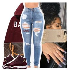 """""""cause boo you came around, and you knocked me down ."""" by lamamig ❤ liked on Polyvore featuring Casetify and Louis Vuitton"""