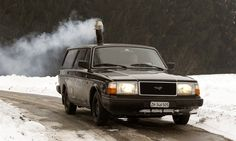 Volvo with a wood burning stove!
