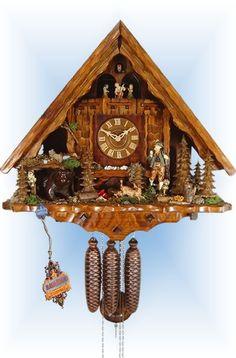 Schwer Hunting Lodge cuckoo clock 20'' - Bavarian Clockworks