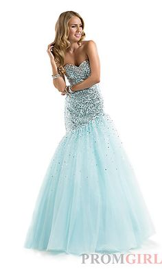 Full Length Strapless Sweetheart Gown at PromGirl.com