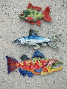 Felted fishes!