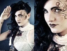 Steampunk Eye Makeup | deviantART: More Like Steampunk eye makeup by Amika-Crystacia