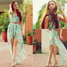 belted dress, floral dress