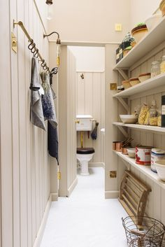 The gorgeous walk in pantry and loo in deVOL's new London showroom