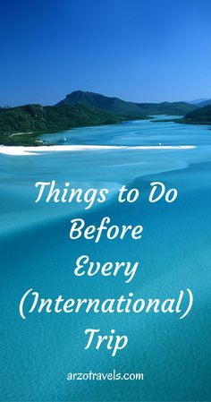 Checkliste for your next (international) trip. Things you should think about before you travel the next time.
