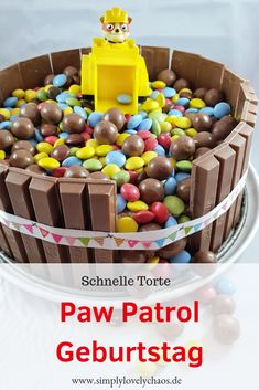 Quick and easy ideas for a Paw Patrol birthday. Children& birthday with Paw Patrol theme party. Paw Patrol Birthday, Boy Birthday, Paw Patrol Torte, Low Fat Cookies, Rubble Paw Patrol, Home Meals, Cakes For Boys, Different Vegetables, Baby Party