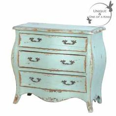 Sea Shore Chest - Shabby chic French Bedroom Chest