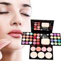 2016 Wonderful 24 Colors Makeup Palette Set Eyeshadow Lip Gloss Foundation Powder Blusher Puff Cosmetic Mirror Tool maquiagem|c9364c20-683a-4185-8c20-7011476a76fa|Makeup Sets