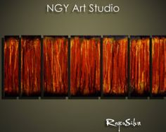 NGY 23.5 x 32 Modern Contemporary Abstract Metal