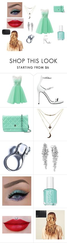 """party"" by gingik ❤ liked on Polyvore featuring beauty, Kendall + Kylie, Chanel, Charlotte Russe, Kill Star, Effy Jewelry, Essie and Hershesons"