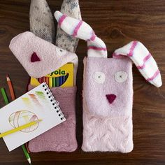 Sew Homegrown: DIY Bunny Pencil Pouch - inspired by West Elm