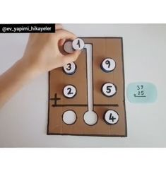 Super great tactile tool to teach addition with regrouping! Fun Math Activities, Math Literacy, Homeschool Math, Teaching Math, Teaching Addition, Math Addition, Special Education Behavior, Math Tutor, Math Projects