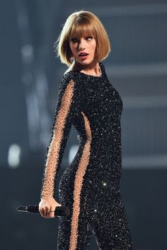 Yaaas. Taylor Swift's crystal catsuit at the Grammys rocked the cutout look in the coolest way possible.