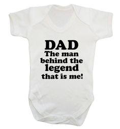 New to FloxCreative on Etsy: Dad the man behind the legend that is me! Baby grow vest joke funny cute gift boyfriend son daughter husband father's day daddy 25 (7.95 GBP)