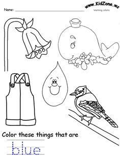 colors recognition practice worksheet - Learning Colors Worksheets For Preschoolers