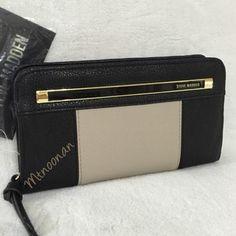 Steve Madden Zip Around Color Block Wallet - 38% Off Retail - Tradesy