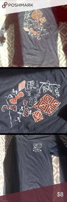 Kappa Alpha Theta sorority Medium Long Sleeve Tee Comfort Colors. Size M. Tops Tees - Long Sleeve