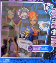 Monster High EXCLUSIVE WEREWOLF SISTER PACK w CLAWDEEN & HOWLEEN WOLF DOLLS…