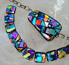 dichroic glass jewelry art - Google Search