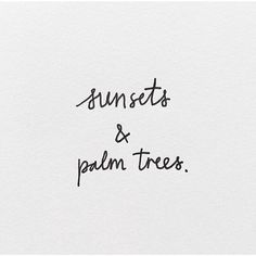 sunsets and palm trees - love summer