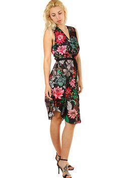 Letní dámské šaty s květinovým vzorem - koupit online na Glara.cz   letnisaty   2d6b56fc11e
