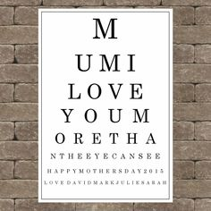 Personalised mothers day gift idea for your special mum UNFRAMED A4 print mo