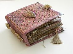 Large Book of Treasures with beaded fabric cover - Beryl Taylor by haley