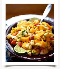 Chili Lime Chicken with Fruit Salsa Recipe