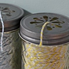 Great idea for storing twine, rope, etc -- could use in the agrden or kitchen/craft room, etc @Looksi Square  #createandbabble