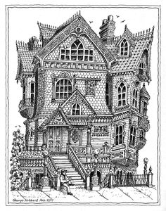 Victorian house #adult #colouring