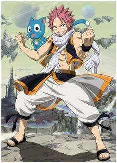 Fairy Tail Natsu this pic reminds me of avatar the last air bender.