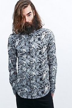 Dr. Denim Pine Shirt in Grey - Urban Outfitters