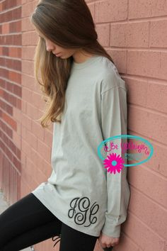 Comfort Colors Long Sleeve T Shirt with by BeYOUniqueEmbroidery